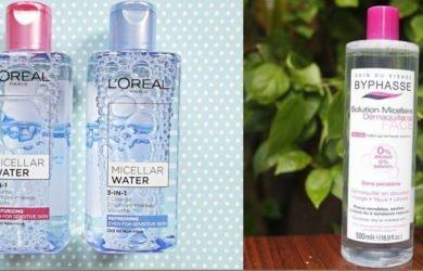5 loại nước tẩy trang bình dân mà làm sạch da hiệu quả