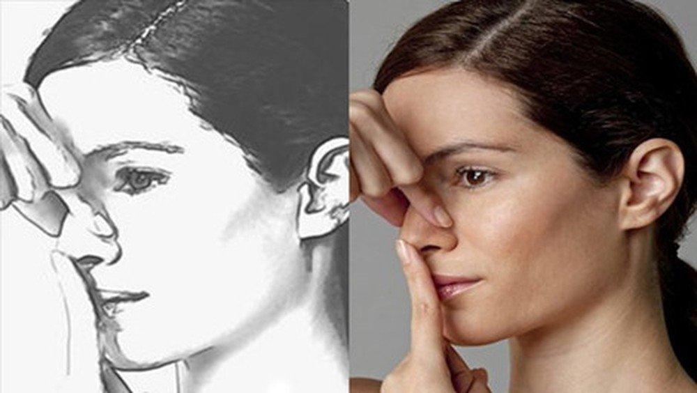 Bài tập massage nâng cơ mũi