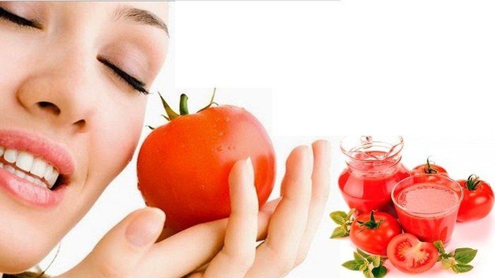 Chăm sóc da mụn bằng cà chua